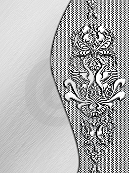 Metal Plate With Ornament Royalty Free Stock Photo - Image: 17948475