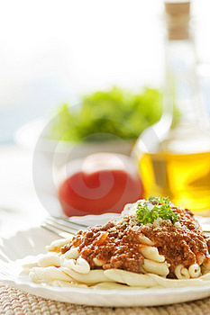 Pasta With Bolognese Sauce Stock Photography - Image: 17948752