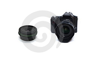 DSLR Camera With Lens Royalty Free Stock Photography - Image: 17954457