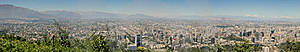 Panoramic Of Santiago Stock Images - Image: 17956924