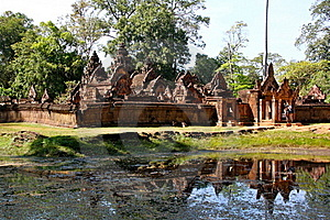 Banteay Srei - Angkor Royalty Free Stock Photos - Image: 17957288