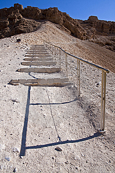 The Roman Ramp - Masada Royalty Free Stock Photos - Image: 17959758