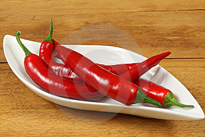 Red Cayenne Peppers Stock Images - Image: 17960344