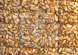 Nuts-and-honey Bar Stock Photo - Image: 17960450