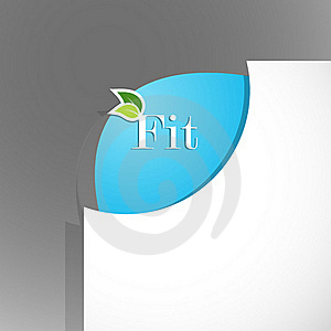 Paper Corner With Fit Sign. Stock Photos - Image: 17961983