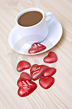 Coffee& Candy. Royalty Free Stock Photo - Image: 17962645