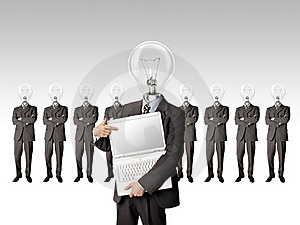 Businessman With Lamp-head Have Got An Idea Stock Photography - Image: 17966642