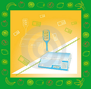 Electronic Scales For Products Stock Photo - Image: 17967520