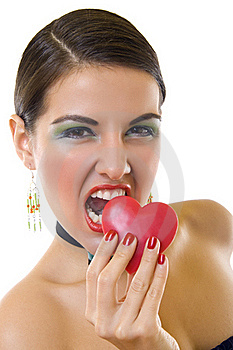 Bitting A Big Heart Royalty Free Stock Photo - Image: 17967705
