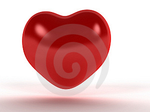 Red Heart With A Diffuse Reflection №1 Stock Images - Image: 17967774