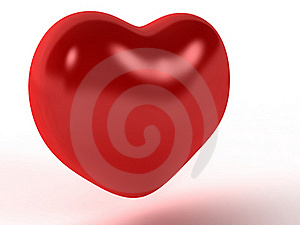 Red Heart With A Diffuse Reflection №2 Stock Photo - Image: 17967790