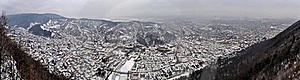 Winter City Panorama Stock Photos - Image: 17968673