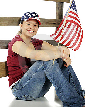 Stars-and-Stripes Teen Stock Photo - Image: 17969110