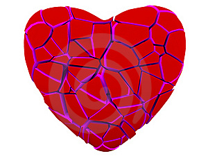 Broken Red Heart Stock Photo - Image: 17969600