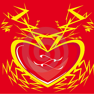 Heart, Lightning, Love. Stock Photo - Image: 17970280