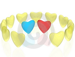 A Couple Of The Lonely Heart Stock Images - Image: 17970644