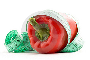 Bulgarian Pepper And Centimeter Royalty Free Stock Photo - Image: 17971315