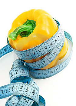 Bulgarian Pepper And Centimeter Stock Photos - Image: 17971383