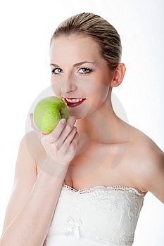 Woman With An Apple Stock Photography - Image: 17972632