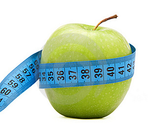 Green Apple With Centimeter Stock Images - Image: 17975164