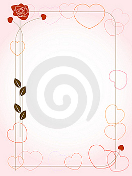 Background With Hearts And Rose Royalty Free Stock Photo - Image: 17980875