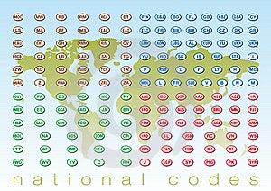 National Codes Stock Photos - Image: 17984543