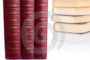 Old Books On White Background. Isolated. Royalty Free Stock Photos - Image: 17985738