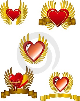 Heart Set Stock Images - Image: 17988204
