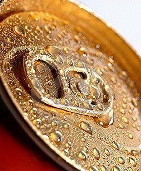 Golden Wet Tin Royalty Free Stock Photo - Image: 17993975