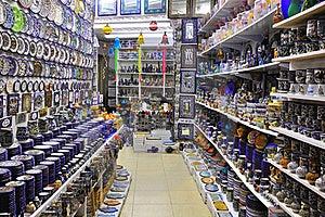 Souvenir Shop In Arab Market. Stock Photo - Image: 17995230