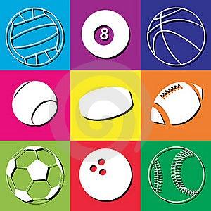 Sport Balls Stock Image - Image: 17998131