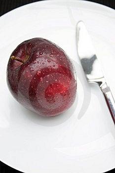 Ett äpple om dagen…, Royaltyfria Bilder