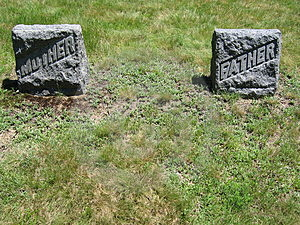 Mother And Father Gravestones Stock Photo