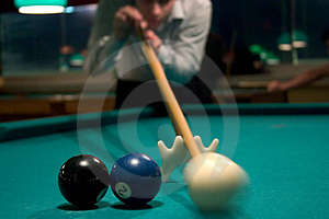 Shooting Pool Free Stock Image