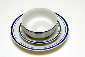 Plate, Saucer, And Bowl Free Stock Image