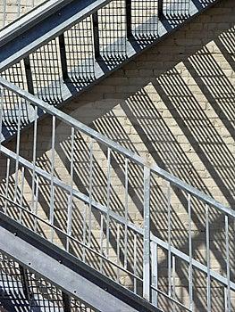 Close up da escadaria Imagens de Stock Royalty Free