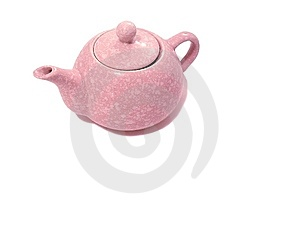 Teiera rosa Fotografia Stock