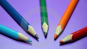 Couleurs de crayon Photos stock