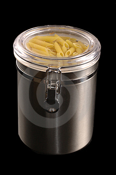 Stainless Steel Kitchen Container Stock Photo