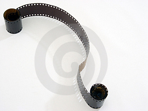 Unrolled  Film Free Stock Image