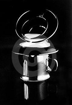 Cofee leggero Fotografia Stock