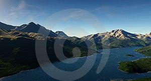 Digital Lake Stock Images