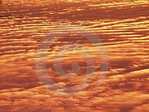 Dusk, Cloud Pattern Stock Photo