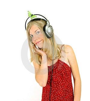 Menina da música Fotos de Stock
