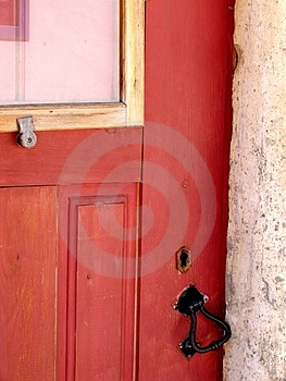 Traditional Door Detail Free Stock Photography
