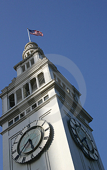 Clock Tower angle Stock Photography