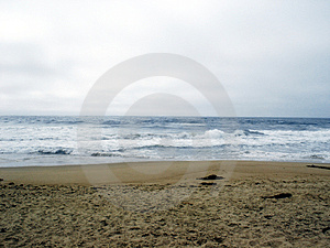 Cold Beach Royalty Free Stock Image
