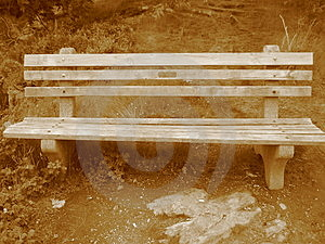 Sepia Bench Royalty Free Stock Photography