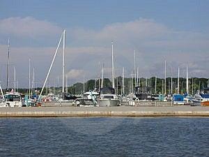 Docked Sailboats Stock Photos