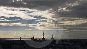 Tallinn View From Radisson Sas Hotel Free Stock Images